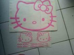 jual sticker mobil hello kitty