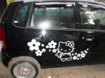 Stiker mobil hello kitty murah