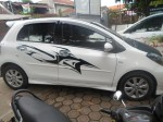 Cutting sticker pada mobil Yaris || Call: 0878-2302-0206