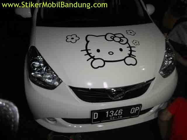 sticker mobil hello kitty