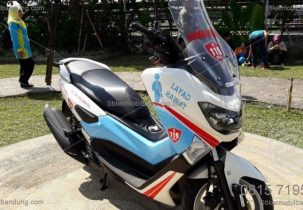 Cutting Stiker Bandung emergency services Motor NMAX