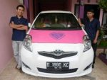 Stiker Mobil Hello Kitty ceria Bandung || Call: 0815 7195 825